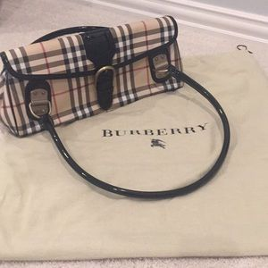 Burberry Medium Bag with Patent Handles
